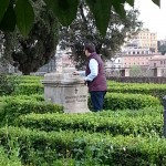 Omaggio floreale a Giacomo Boni