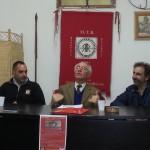 Il filosofo Giandomenico Casalino tiene la sua relazione sull'essenza della Romanità