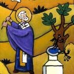 S. Nicola scaccia i 'demoni' pagani, inizio del III secolo (dipinto del VI secolo)