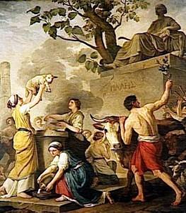 La festa in onore di Pale, dipinto di Joseph Benoit Suvee