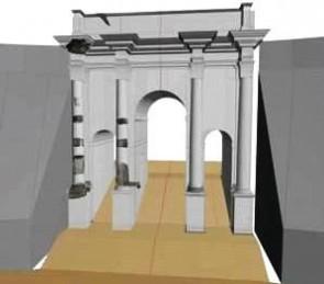 Ricostruzione dell'Arco di Tito al Circo Mssimo