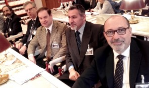 La delegazione del MTR. Da destra Paolo Casolari, Daniele Liotta, Giglielmo Giovannelli Marconi, Ermes Paparoni, Pietro Rosetti, Marco Felli (non inquadrato)