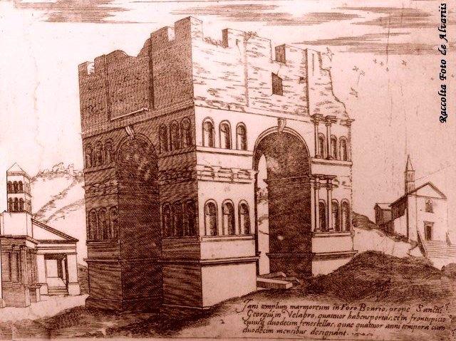 Arco gianico, disegno del Cavaliere in G. Dosio