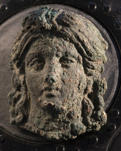 Testa bronzea di Minerva rinvenuta a Castro