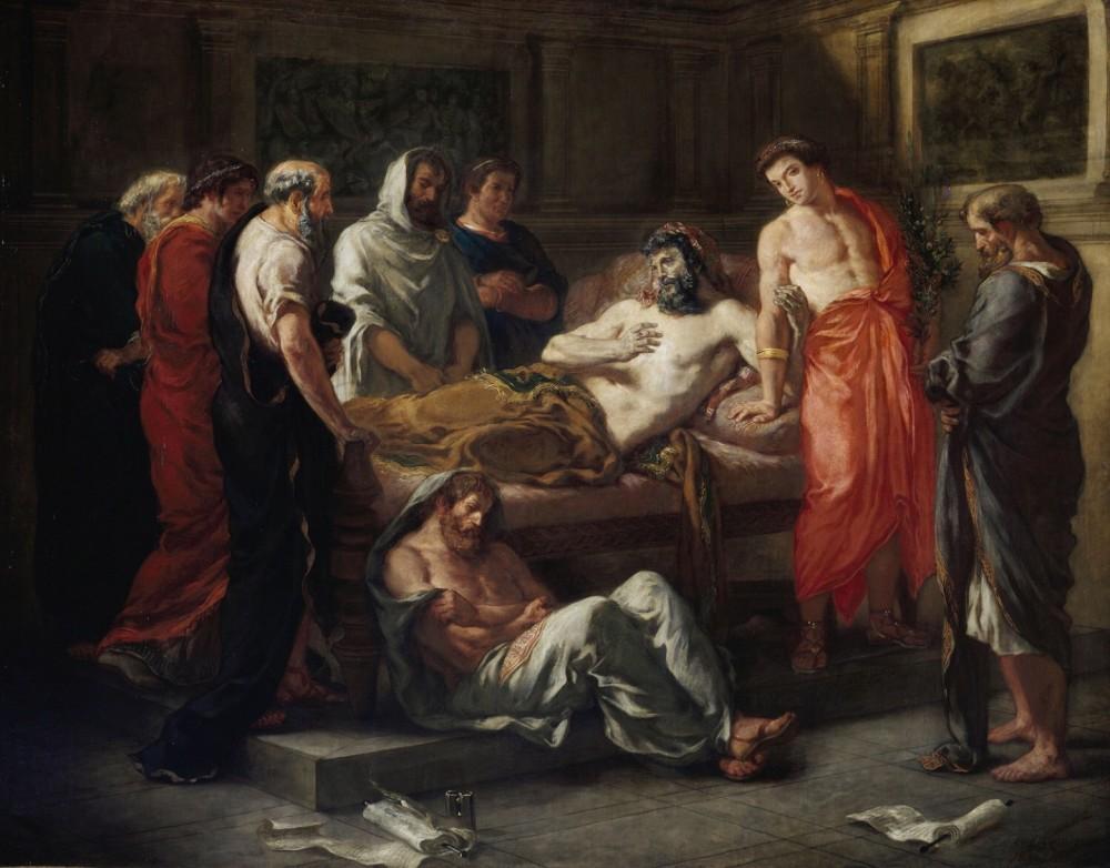 """""""Ultime parole di Marco Aurelio"""" di Eugene Delacroix"""