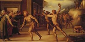 """""""I Lupercali"""", olio su tavola di Domenico Beccafumi, collezione Martelli - Firenze"""