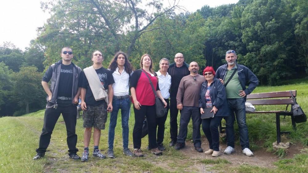 Il gruppo italiano a Rip: a sinistra la delegazione della Societas Hesperiana, a destra quella del Movimento tradizionale romano