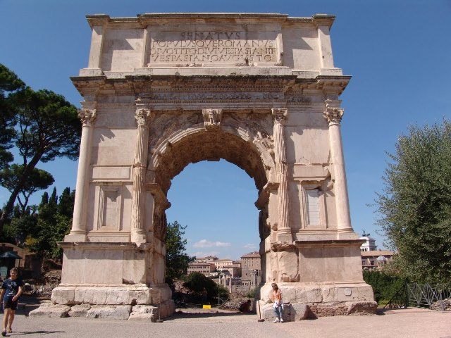 Arch of Titus, Rome, ca. 81 CE, marble