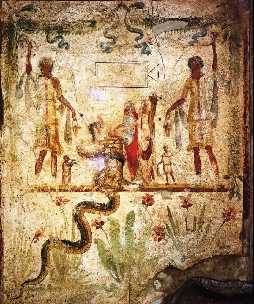 Pompei, Casa di Iulius Polibius, larario