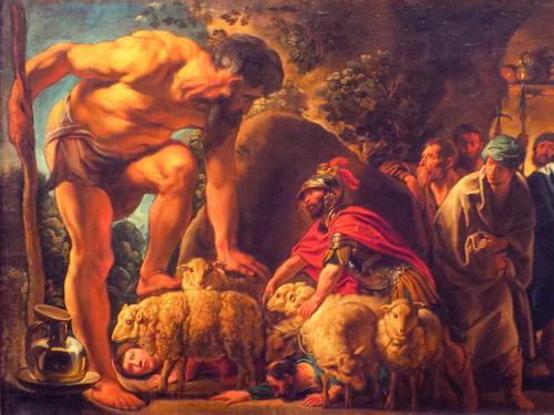 Ulisse nella grotta di Polifemo