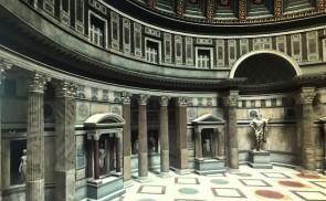Ipotesi ricostruttiva degli interni del Pantheon
