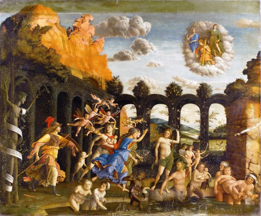Il Trionfo della Virtù di Andrea Mantegna, 1502, Museo del Louvre