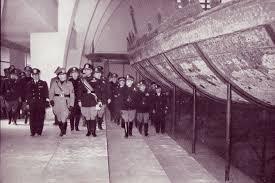 Nemi, 21 aprile 1940: il Capo del Governo visita il Museo delle navi nel giorno dell'inaugurazione
