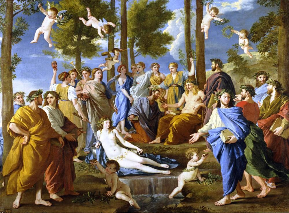 Il Parnaso (Apollo e le Muse) di Nicolas Poussin