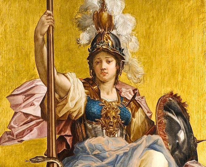 Minerva di johan Sylvius, dettaglio