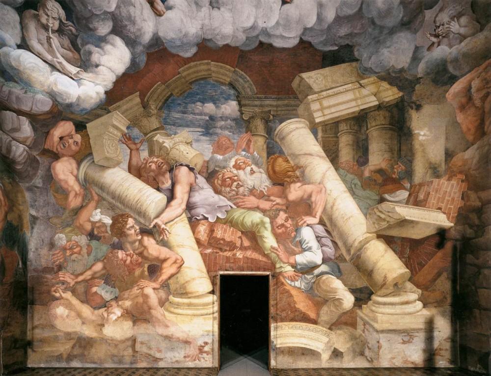 Giulio Romano, La caduta dei Titani, Mantova, Palazzo Te