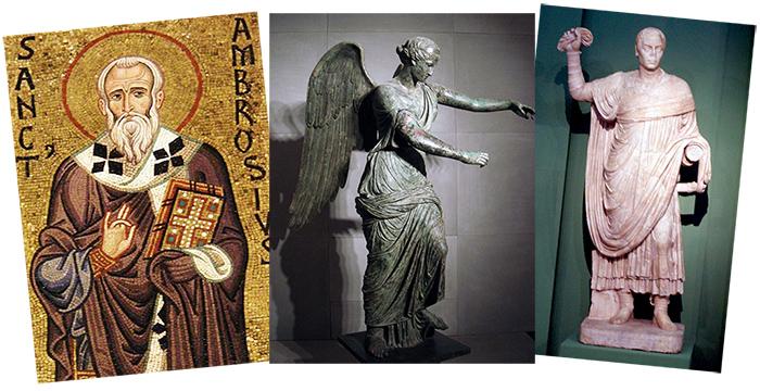Ambrogio, la statua della Dèa Vittoria, Simmaco