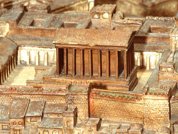 Tempio di Giunone Moneta, ricostruzione dellUniversità di Caen, Normandia