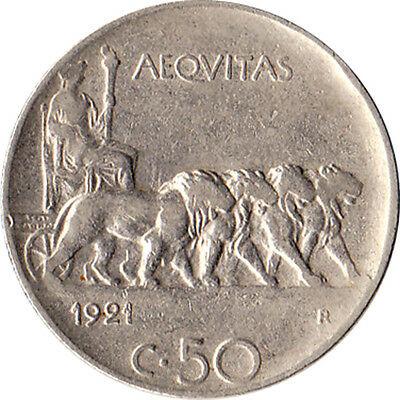 50 Centesimi Roma trainata da leoni