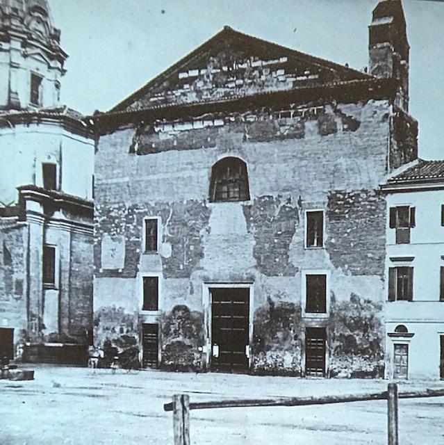 La chiesa di s. Adriano, demolita, già Curia Iulia