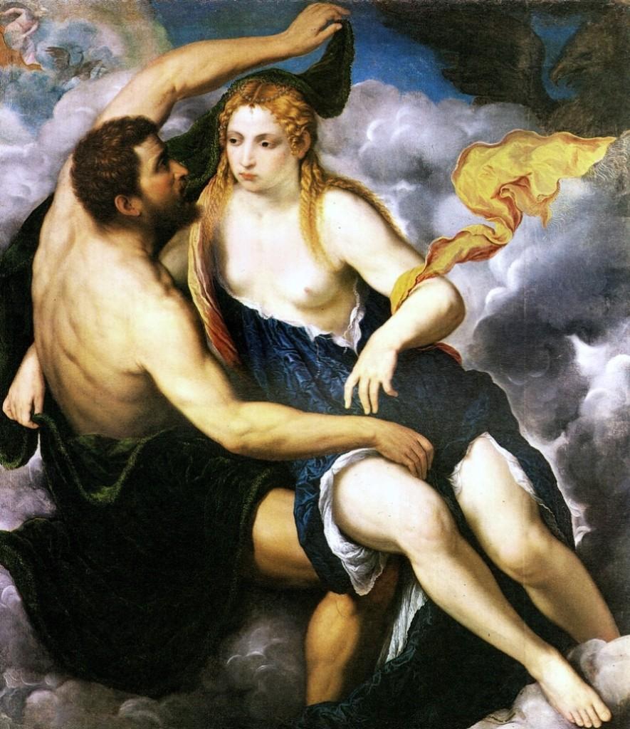 Paris Bordone, Giove e Io, Kunstmuseum, Göteborg