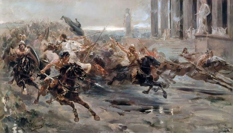 L'entrata degli Unni a Roma, Ulpiano Checa, 1887