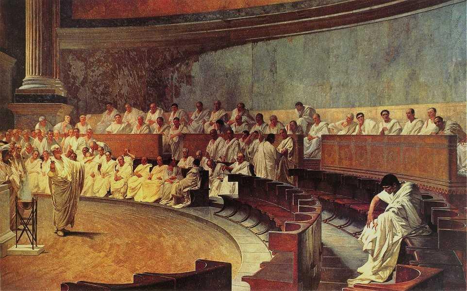 Cesare Maccari, Cicerone denuncia Catilina, Senato della Repubblica