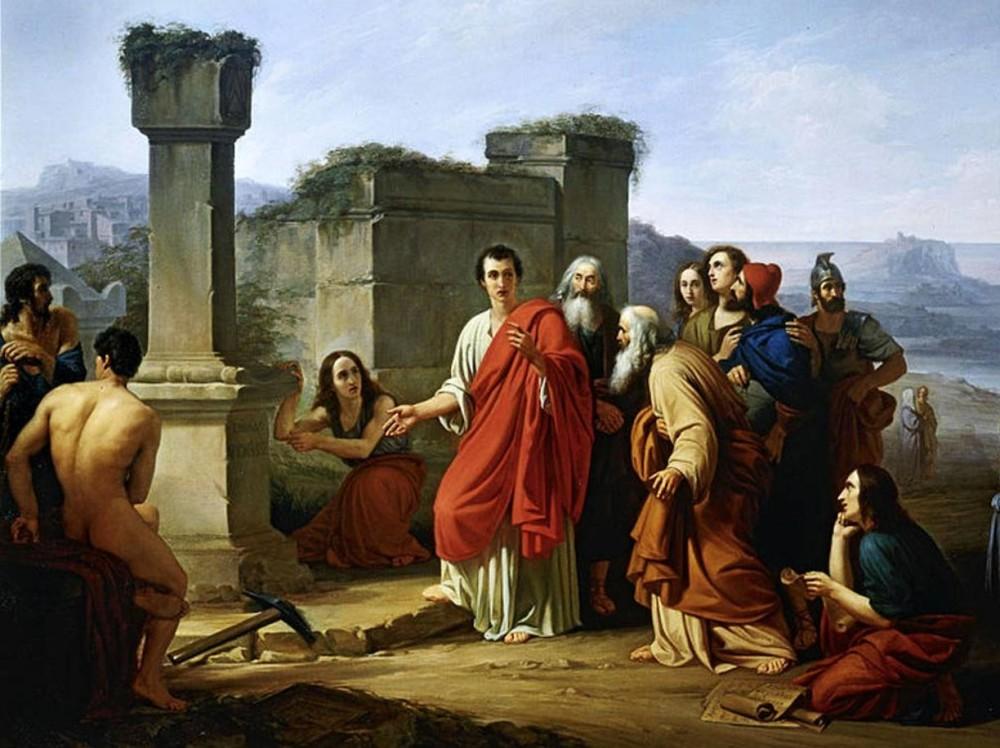Paolo Barbotti, Cicerone sulla tomba di Archimede, Musei Civici di Pavia
