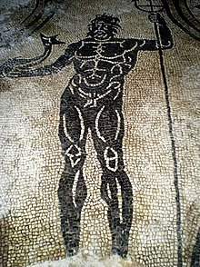 Mosaico con il Dio Nettuno nelle terme di Bath