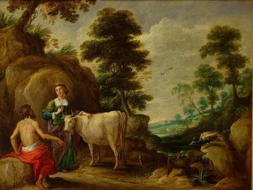 David Teniers: il vecchio Giove dona Io a Giunone