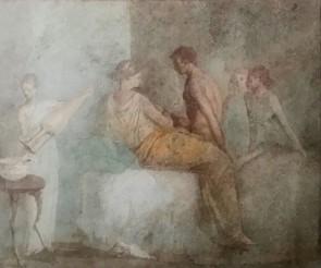 Decorazione parietale con alcova da Villa della Farnesina, Museo Nazionale Romano