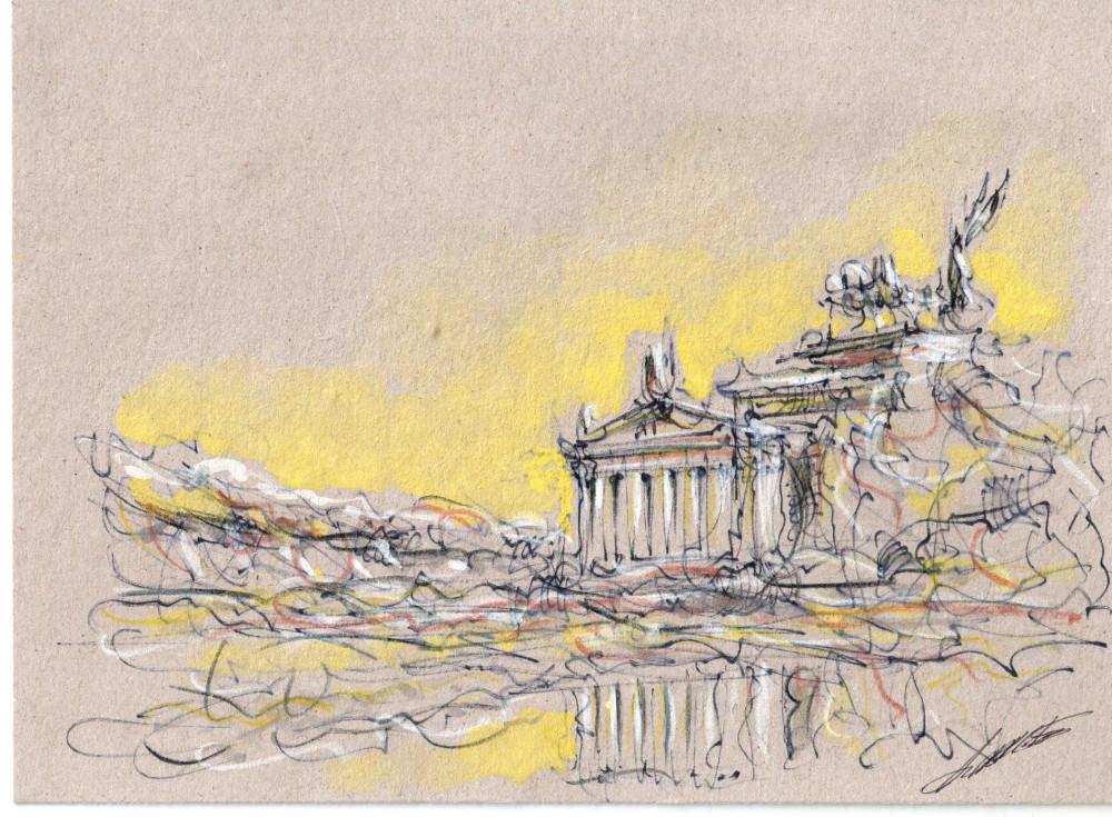 Roma, incisione di Alvaro Gabriele