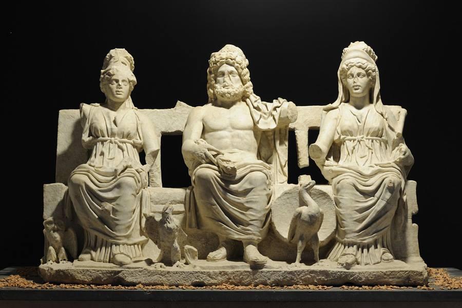 La Triade Capitolina esposta a Montecelio