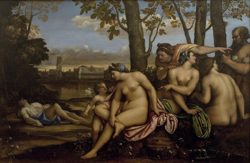 Morte di Adone, Sebastiano del Piombo, 1512, Galleria degli Uffizi