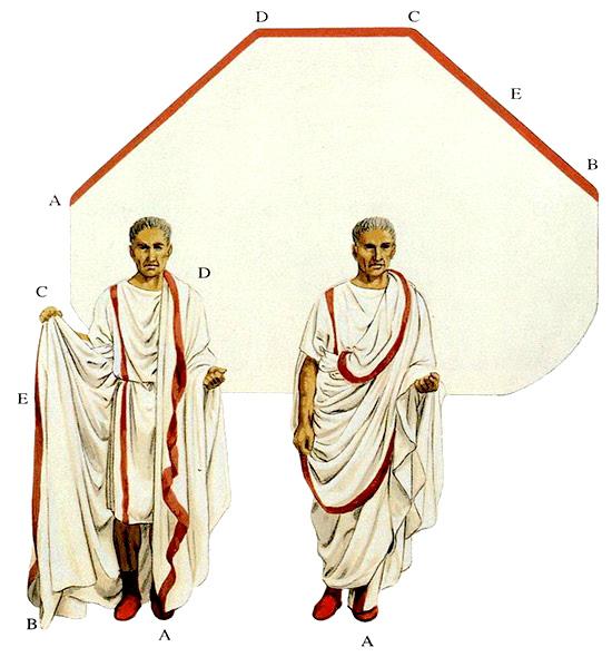 La forma della Toga (tratto da Romano Impero)