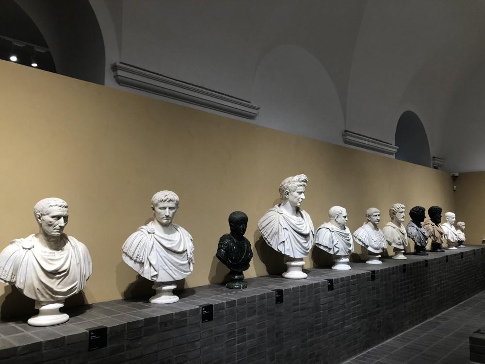 Sequenza di ritratti di imperatori romani
