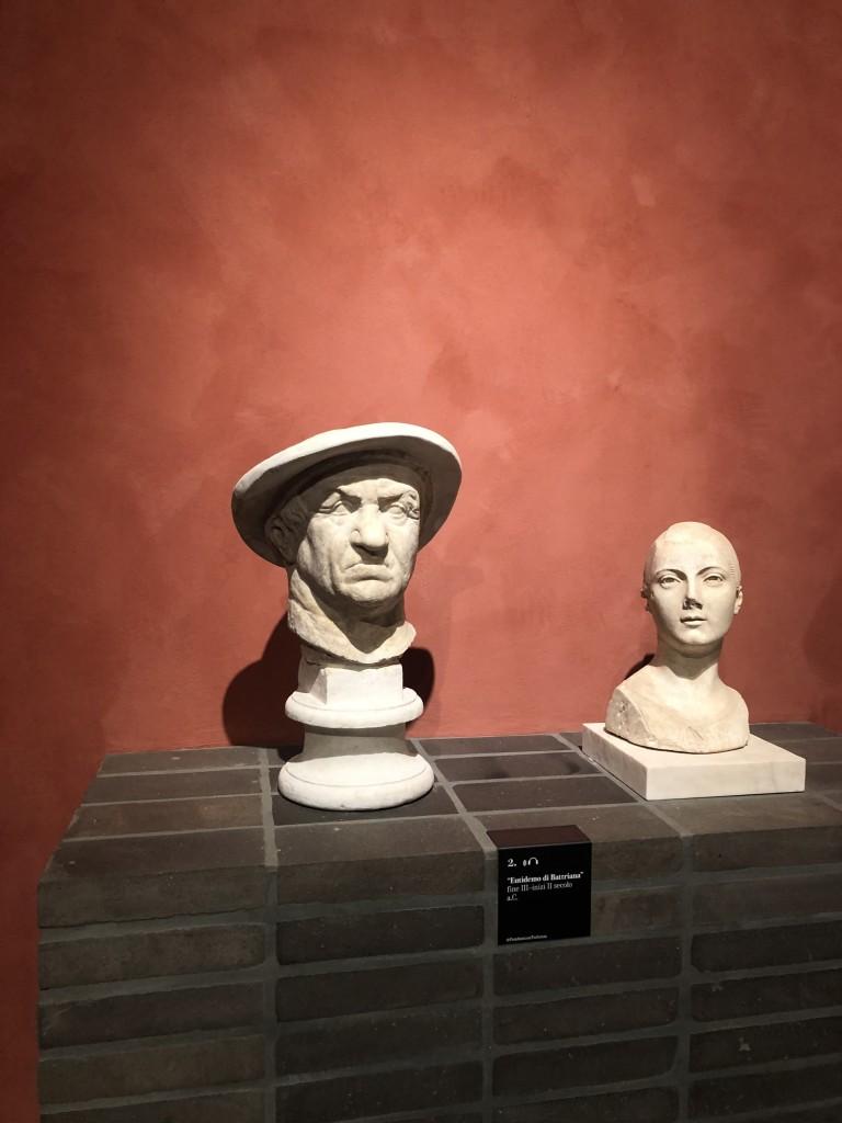 Da sinistra Eutidemo di Battrinana e ritratto di fanciulla